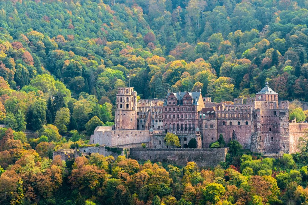 heidelberg, castle, historically